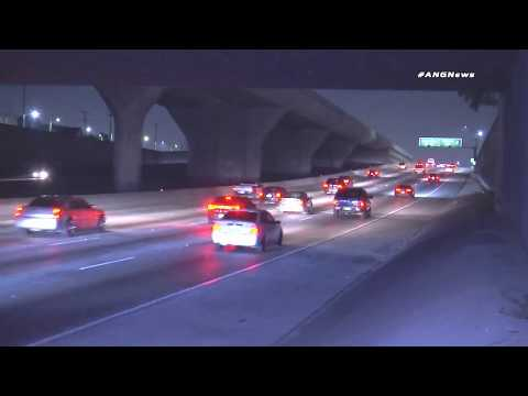 Los Angeles Police Abandon Stranded Motorist on Freeway-Multiple Crashes Follow-Caught on camera!