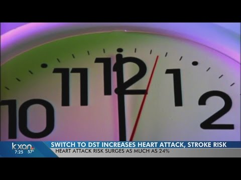 Daylight saving time can increase risk for heart attack