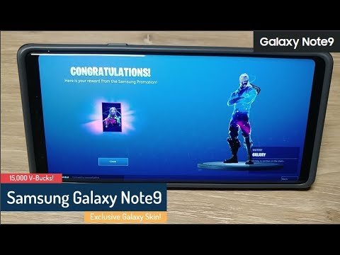 Samsung Galaxy Note9 Fortnite Promotion Galaxy Skin 15 000 V Bucks