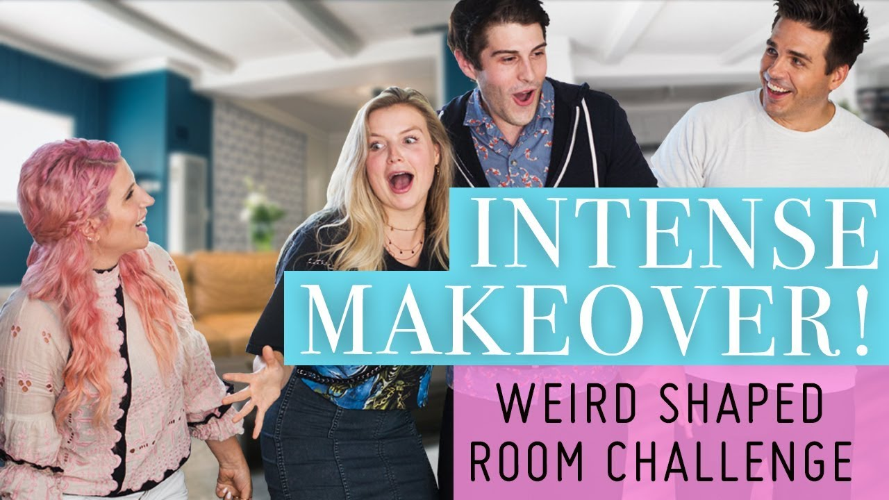 INTENSE Makeover! Weird Shaped Room Challenge!