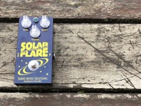 Solar Flare Distortion Guitar Pedal From SARNO Music Solutions