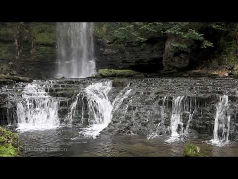 3D Waterfall-Tranquil Mountain River-Relax-Calming Nature Sounds-Bird Song-Dripping Water