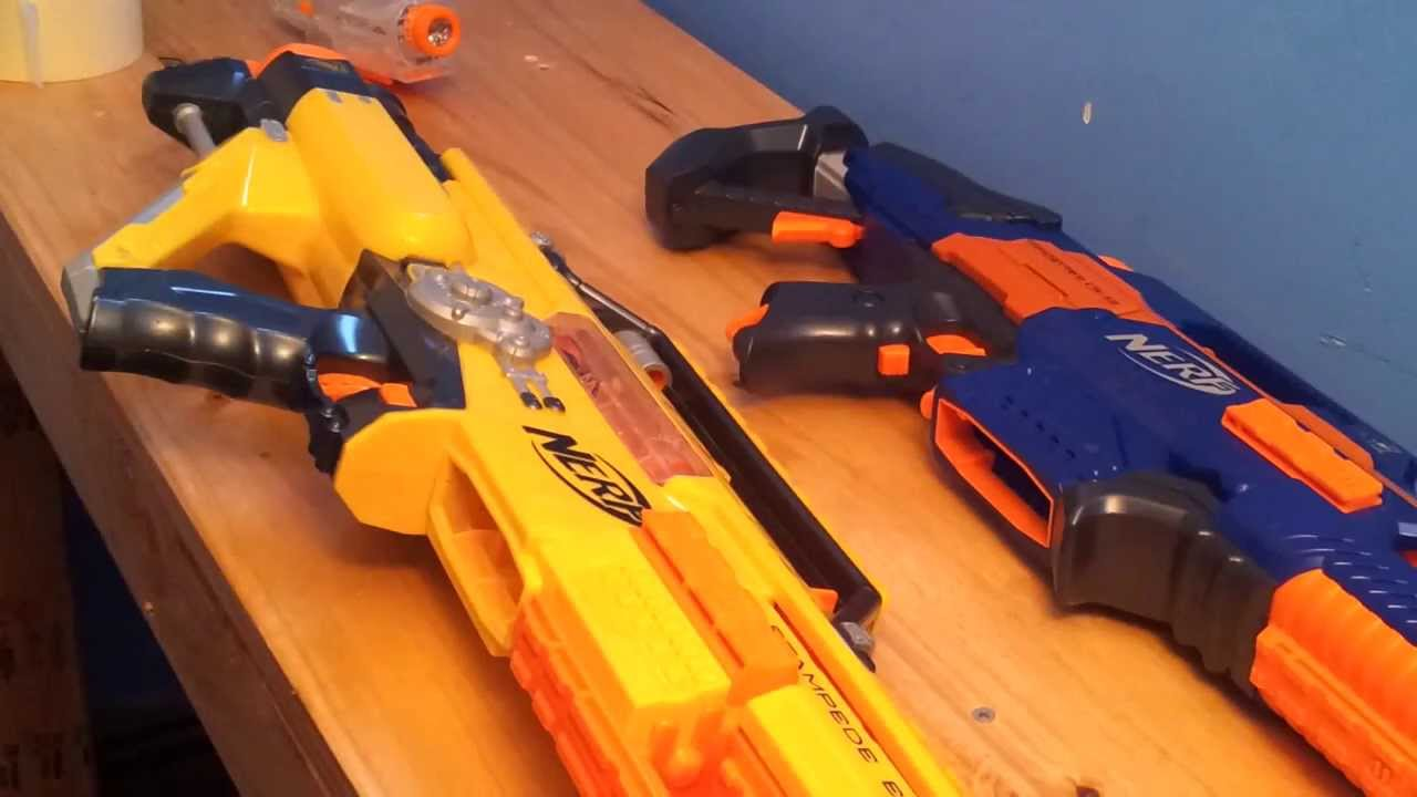 Nerf Rapidstrike Vs Stampede Stock Test Youtube