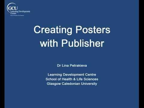 Creating Posters with Publisher