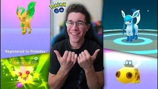 HOW TO GET LEAFEON + GLACEON IN POKÉMON GO! (Name Trick + New Lures)