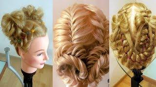 Детские причёски  Косы для девочки  Причёски праздничные Peinados para niña. Hair tutorial