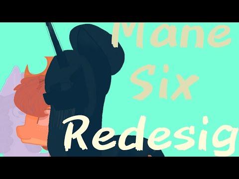 Mane 6 Redesign [Speedpaint]