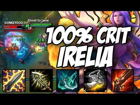 S+ WITH 100% CRIT IRELIA (League of Legends) - YouTube  S+ WITH 100% CR...