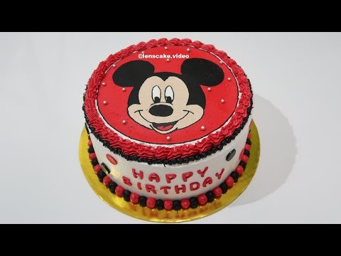 Kereen Kue Ulang Tahun Mickey Mouse Cake Cara Membuat Kue Ultah Youtube