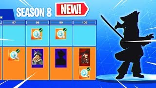 *NEW* SEASON 8 BATTLE PASS + TIER 100 SKIN? (Fortnite Season 8)