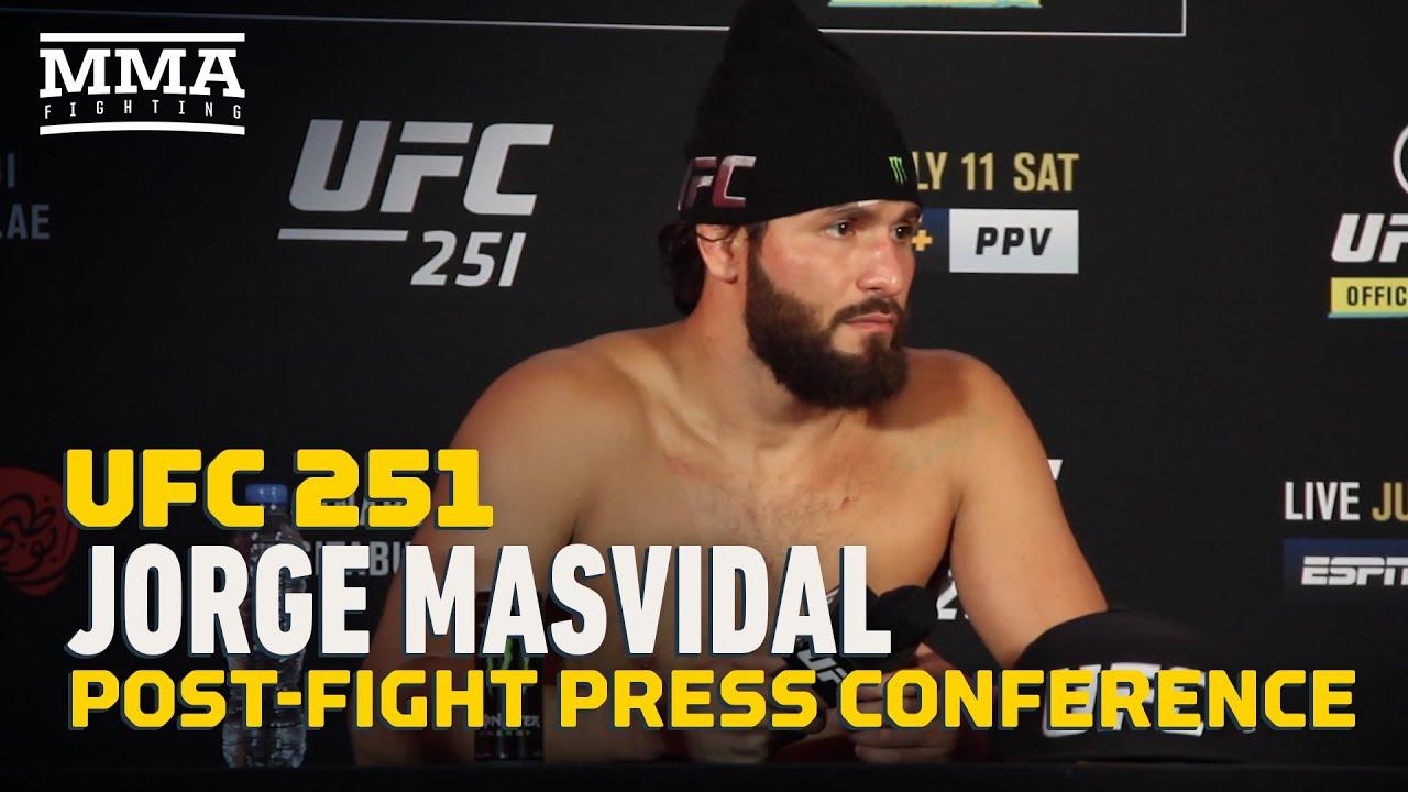 UFC 251: Jorge Masvidal Post-Fight Press Conference - MMA Fighting