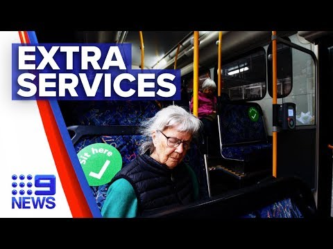 Coronavirus: Extra transport services added for safety | Nine News Australia