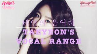 Taeyeon's Vocal Range 태연의 음역대 (D3 ~ C6) [1옥타브 레 ~ 4옥타브 도] - Stafaband