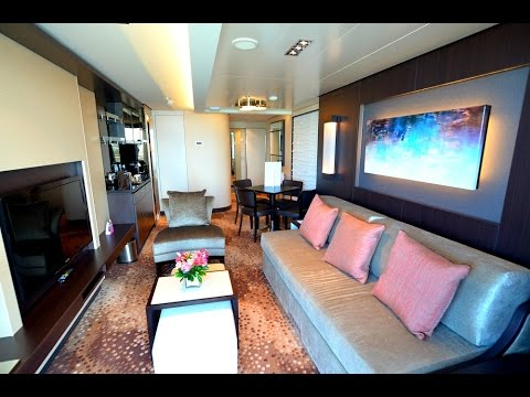 Norwegian Escape Penthouse Suite Stateroom Video Tour #14300