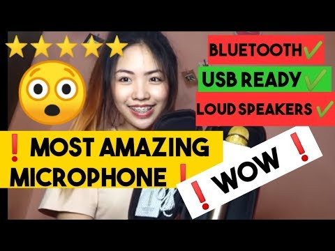 MOST AMAZING MICROPHONE! (Bluetooth Q9) + song cover❤️