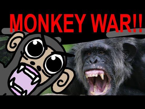 MONKEY WARS, GOMBE CHIMPANZEE WAR Documentary Cartoon