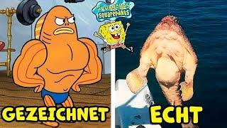 8 Spongebob Schwammkopf Charaktere im echten Leben! thumbnail