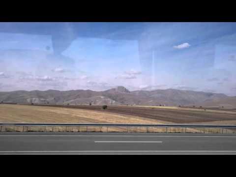 Anatolian landscape close to Erzurum, Turkey