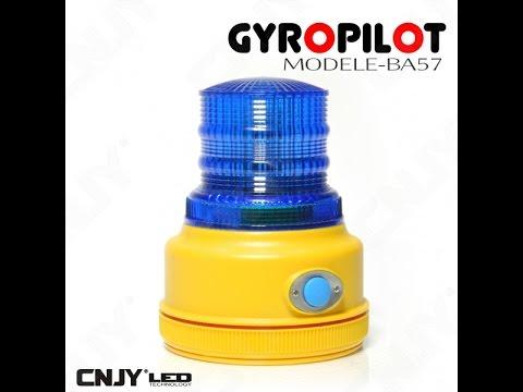 gyrophare gyropilot a led aimante magnetique autonome a pile bleu signalisation balise routiere. Black Bedroom Furniture Sets. Home Design Ideas