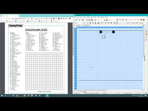 How to solve a diagramless crossword - YouTube