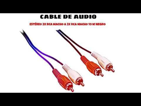Video de Cable de audio estereo 2x RCA macho a 2x RCA macho 10 M Negro