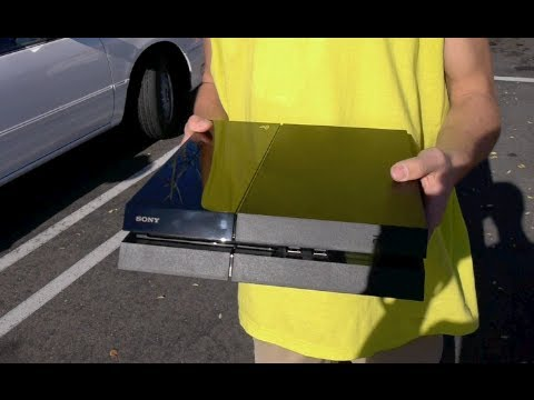 Smashing a Brand New Playstation 4 Outside Gamestop