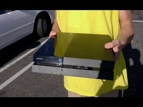 Smashing a Brand New Playstation 4 Outside Gamestop