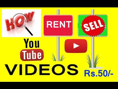how to make your youtube video paid !! for Rent or Sale !!