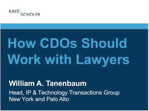 CDO Vision Webinar: How CDOs Should Work with Lawyers