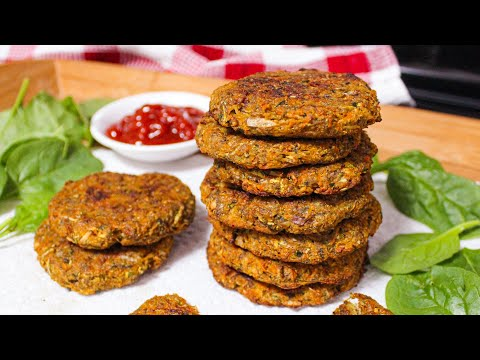 Baked Vegetable Patties Recipe (Vegan & Grain-free) | How to make Vegetable Patty | Zucchini Patties