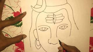 How to Draw LORD SHIVA DRAWING step by step for kids (mahadev drawing step by step )