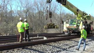 Rail removal during a rail change.