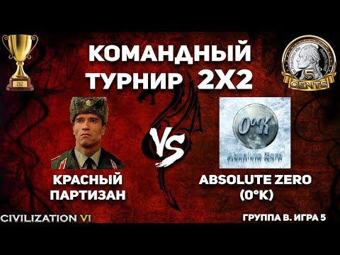 Командный турнир 2х2 Civilization VI. Группа A. Красный партизан vs. Absolute Zero (0°K)