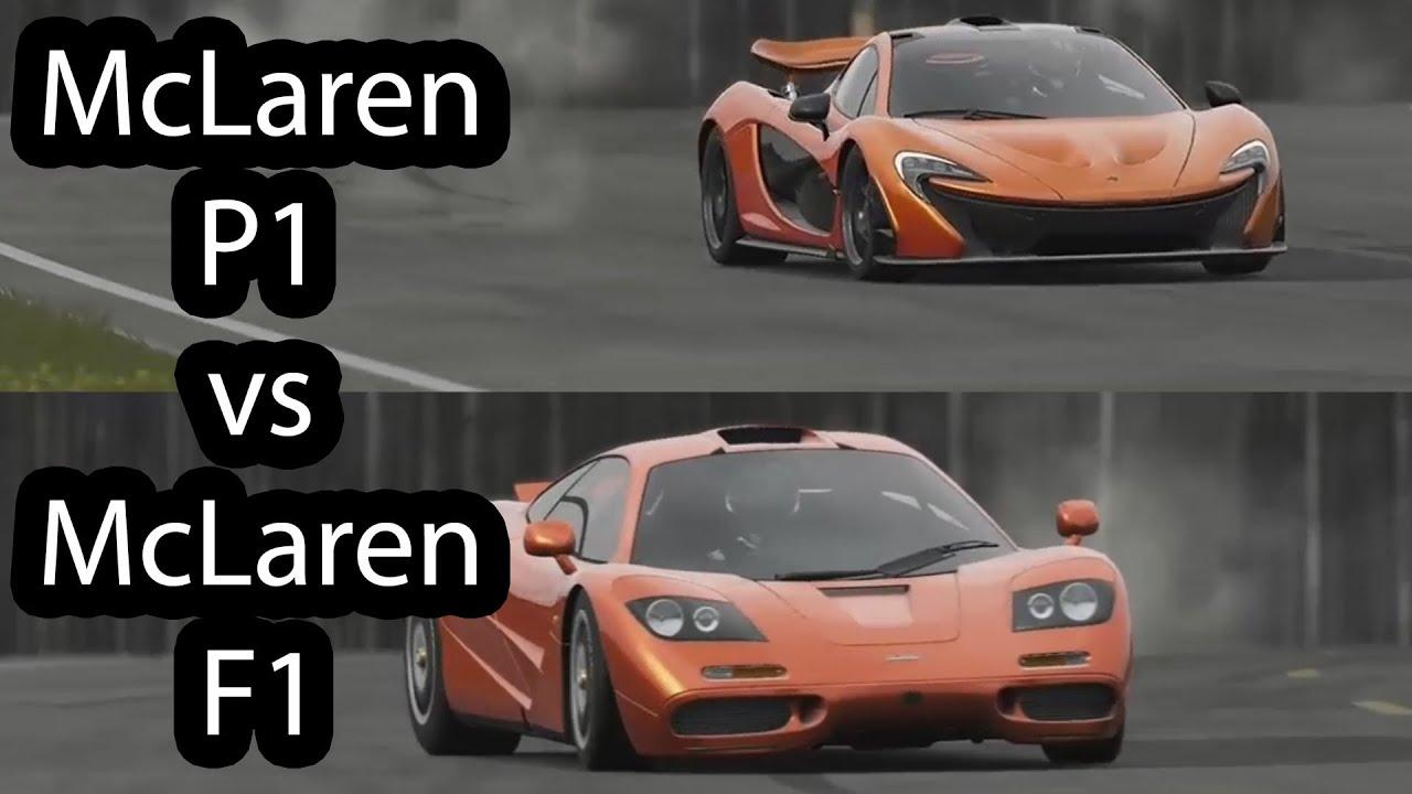 McLaren P1 vs McLaren F1 Top Gear - YouTube