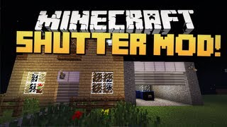 Minecraft Mody - SHUTTER MOD 1.4.5 ! (Automatyczne Drzwi Garażowe !)