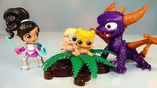 Куклы ЛОЛ и Нелла Отважная Принцесса Мультик для детей Игрушки Сюрпризы #LOL Dolls