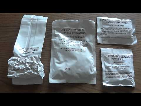 MRE Review: MCW (Meal, Cold Weather) Menu 11 Scrambled Eggs and Bacon
