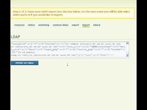 Drupal LDAP Integration Help Module