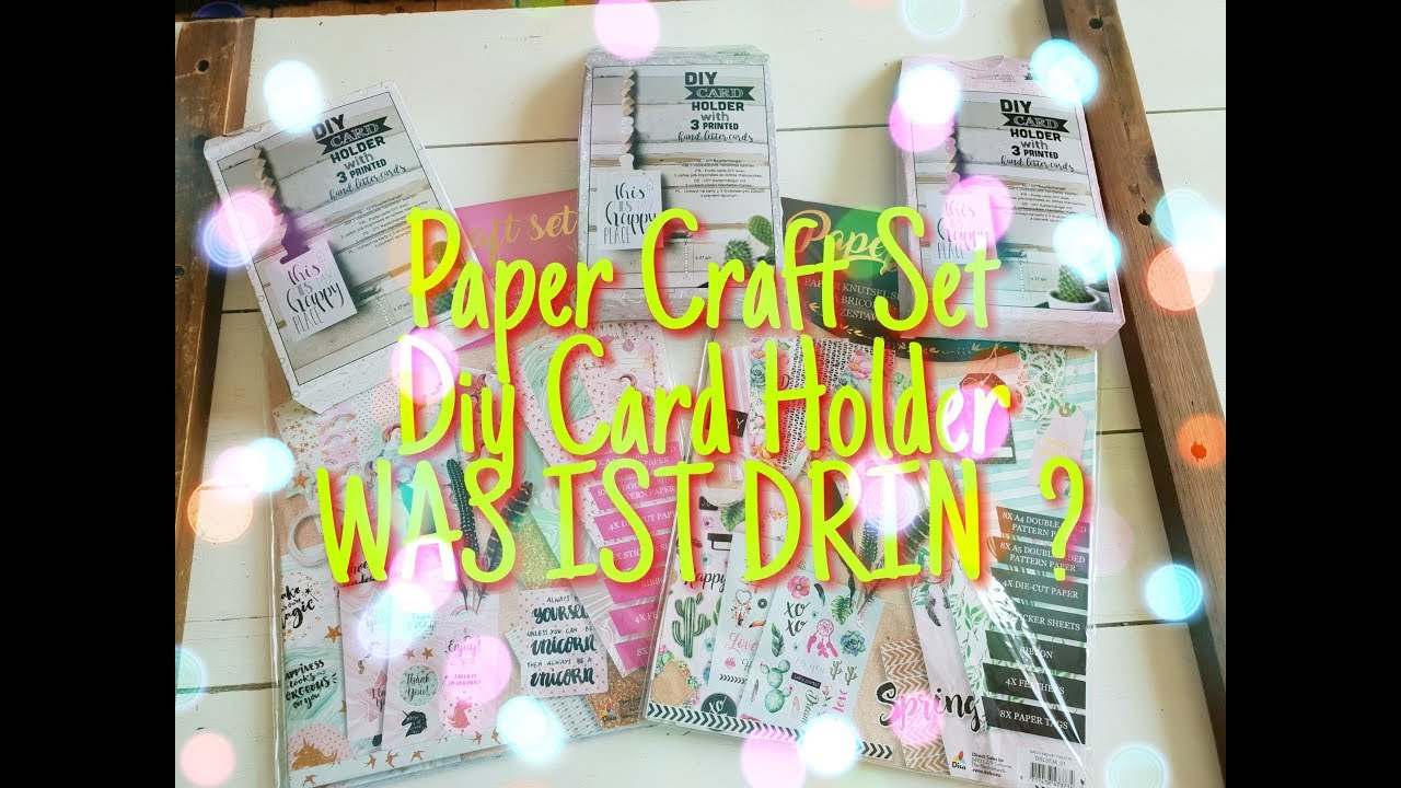 action paper craft set diy card holder was ist drin youtube. Black Bedroom Furniture Sets. Home Design Ideas