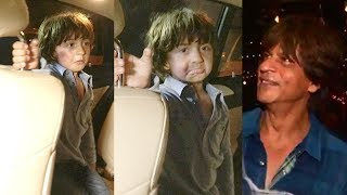 Shahrukh Khan's CUTE Son AbRam CRIES Missing Papa At Aishwarya's Daughter Aaradhya's Birthday party