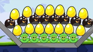 Angry Birds Bomb 1 - RESCUE ALL THE GOLDEN EGG FROM BAD PIG FULL!