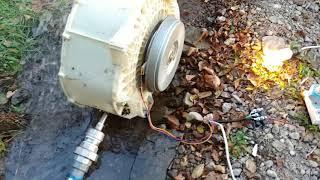 에너지자립 세탁기 모터 수력발전기 만들기2