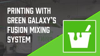 Screen Printing With the Green Galaxy Fusion Mixing System