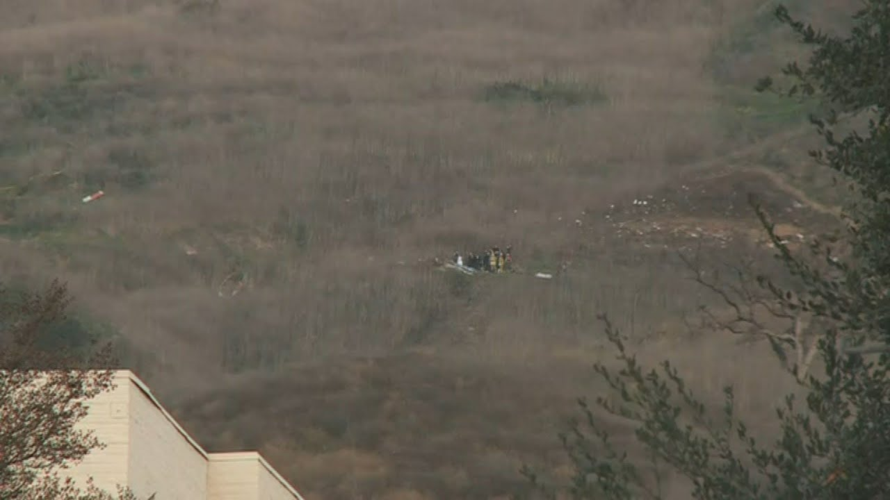 Authorities Prepare Body Bags At Kobe Bryant Helicopter Crash Site Afp Youtube