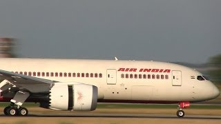 Innaugural flight - Air India 787 Dreamliner at Rome FCO