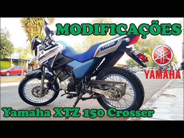 Crosser MODIFICADA   Yamaha XTZ 150   Minhas modificações