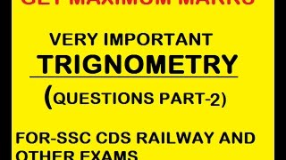 Trignometry part 2 (topper series) fo every exam