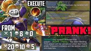 Fanny Prank Challenge sa Rank game | Feeding enemies on GrandMaster 🤣 FANNY not FUNNY