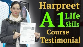 Harpreet A1 Life Skills Course Testimonial at IELTS Learning