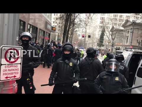 USA: Police arrest 11 following series of protests in Portland